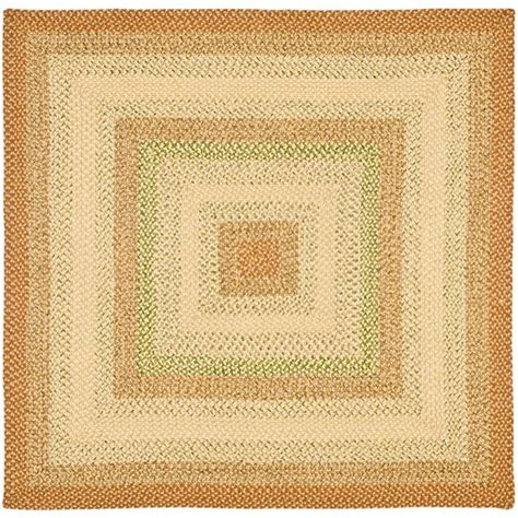 Safavieh Braided Rust Multi 8 Ft X 8 Ft Square Area Rug Square Rug