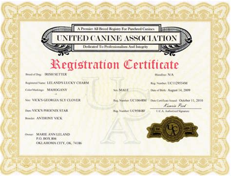 Dog Registration, Pedigree Services and Information