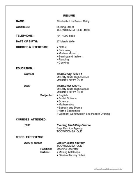 the most hobbies to put on resume resume format web