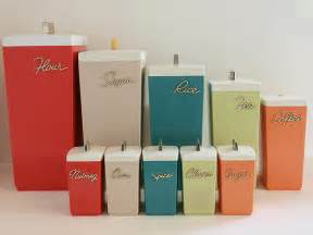 Vintage Retro Kitchen Canisters by Photo
