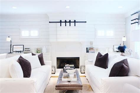 Shiplap Walls Living Room Shiplap Fireplace Facade Design Ideas