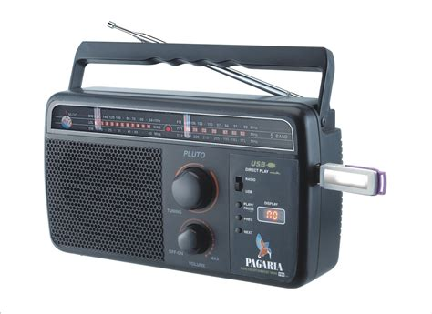 Radio Usb pagaria 5 band usb support rechargeable battery fm radio