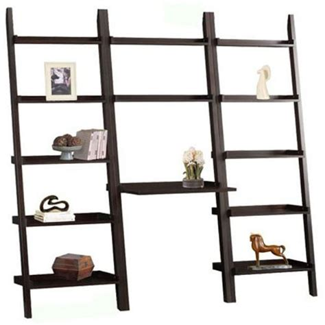 1 cheap cappuccino brown 3 leaning ladder