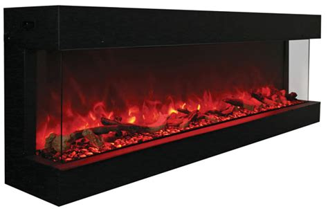 three sided electric fireplace 72 tru view xl 3 sided electric fireplace amantii