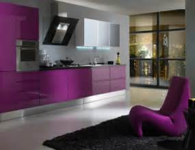 Purple cabinet can add the beauty inside the modern house design ideas