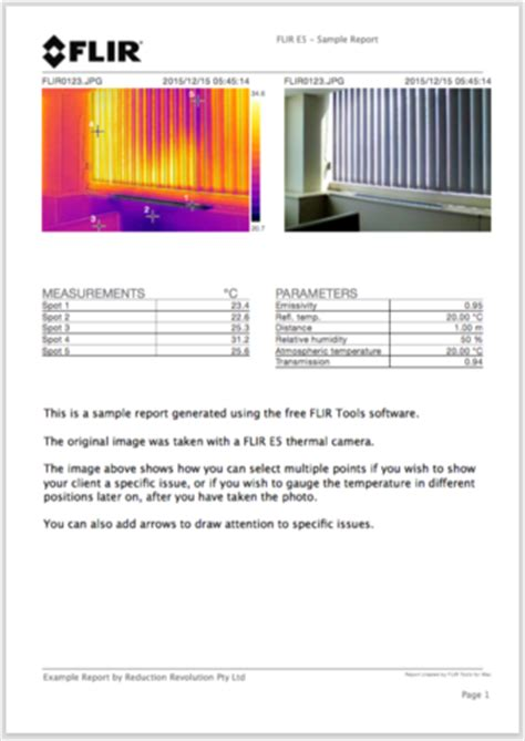 thermal imaging report template rent hire flir thermal imaging