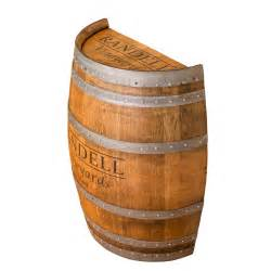 Whiskey Barrel Tables by Personalized Half Barrel Wine Barrel Furniture