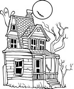 halloween coloring pages of a haunted house images