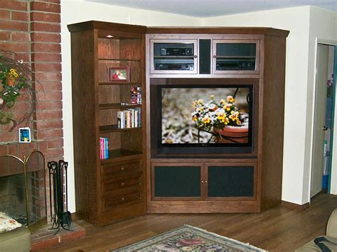corner media cabinets flat screen tvs corner tv armoire and bookcase c 180 oak wood designs