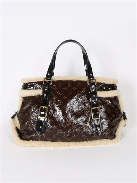 louis vuitton thunder monogram shearling bag luxury bags