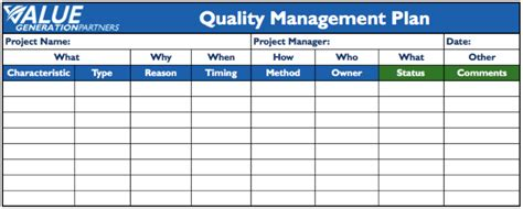 quality plan template quality inspection plan pictures to pin on
