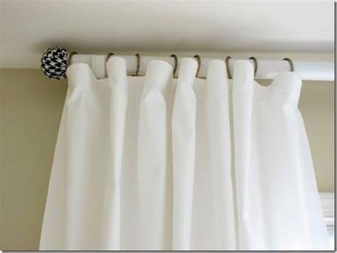make your own curtain rod finials how to make a curtain rod and finials with a tennis ball