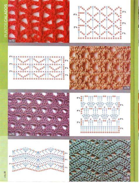 graficos de puntos calados de crochet puntadas de crochet calado imagui
