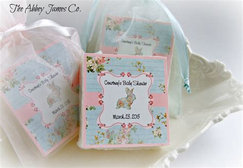 shabby chic baby shower favors set of 10 soap favors baby