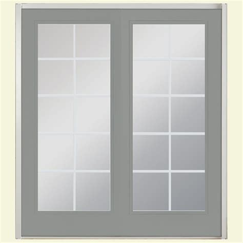 Masonite 72 In X 80 In Silver Cloud Prehung Left Hand Masonite Patio Doors