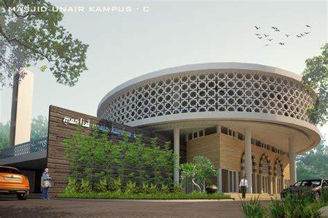 desain kaligrafi masjid krawangan masjid unair surabaya grc artikon indonesia