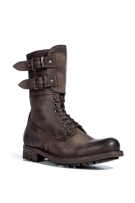 ndc taupe waxed lace up boots in brown for taupe lyst