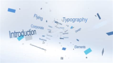 Flying Typography Logo Flying Pictures After Effects Template Free