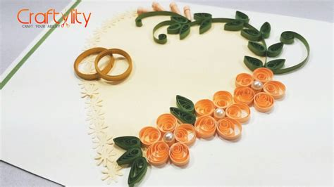 Paper Wedding Card by Diy Paper Quilling Wedding Cards Tutorial How To Make