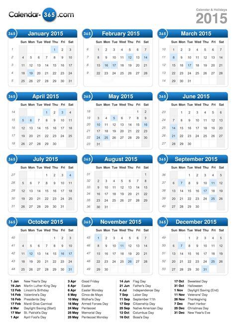 A Calendar 2015 Calendar