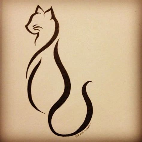 simple cat tattoo unique cat tattoos parryz