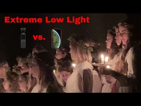 low light osmo pocket firmware vs iphone xs max 4k 30fps
