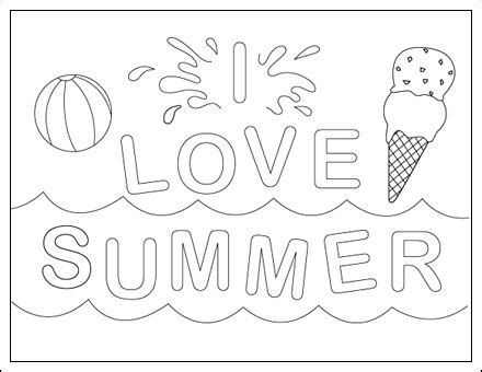 I Love Summer Zomer Kleurplaten Pinterest I Love Summer Colouring Pages To Print