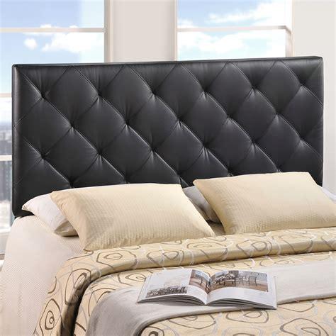 leatherette headboard theodore queen leatherette headboard black dcg stores