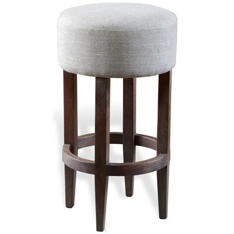 Grey Colored Stools by Barlow Modern Grey Linen Backless Bar Stool Kathy Kuo Home