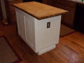 Wainscoting Kitchen Island by Bead Board With Wood Top For The Basement