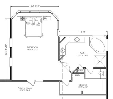 bedroom and bathroom addition floor plans master bedroom addition plans