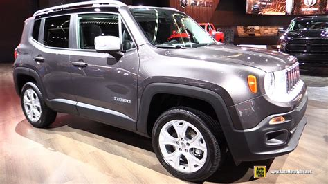 gray jeep renegade interior 2017 jeep renegade limited exterior and interior