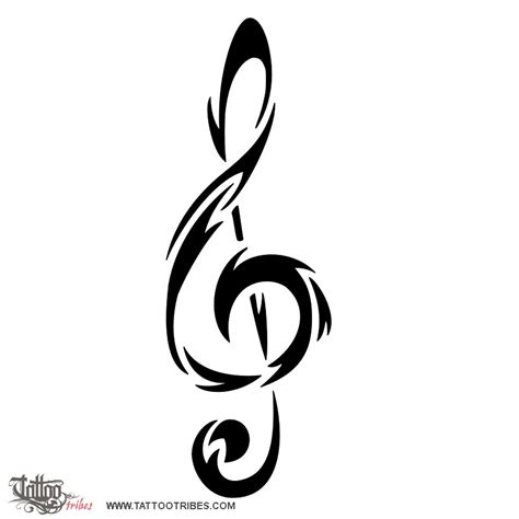 tribal music note tattoo of tribal tribal spirit custom