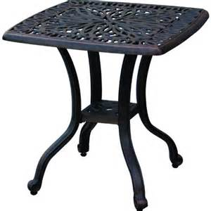 Patio End Table by Black Friday Darlee Elisabeth Cast Aluminum Outdoor Patio