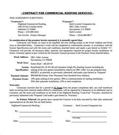 roofing contract template roofing contract template 8 free documents in pdf