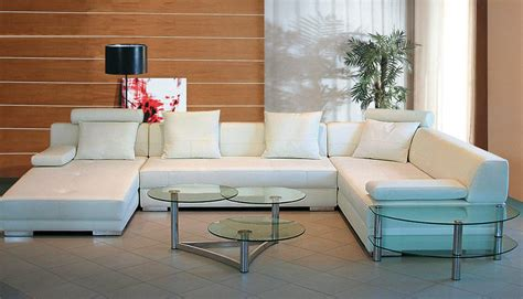 white leather sofa living room vig divani casa 3334 white leather sectional sofa