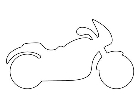 motorbike template for cake motorcycle pattern use the printable outline for crafts