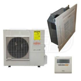 Fujitsu Ceiling Cassette Installation Manual by Fujitsu 24rclx 24k Btu Cooling Heating Ceiling Cassette Air Conditioning System 15 0 Seer