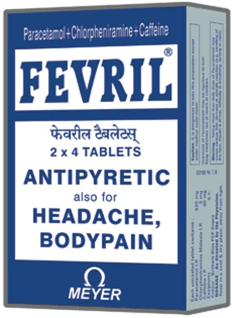 Antipyretic Also Search For Fevril Antipyretic Also For Headache And