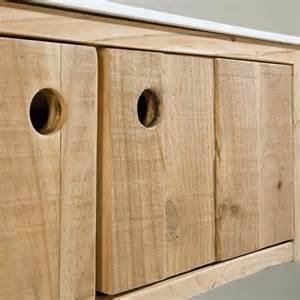 meuble salle de bain bois vieilli 80 224 100 cm 2 portes