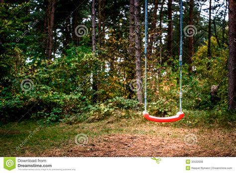 forest swing swing in forest royalty free stock photos image 35522008