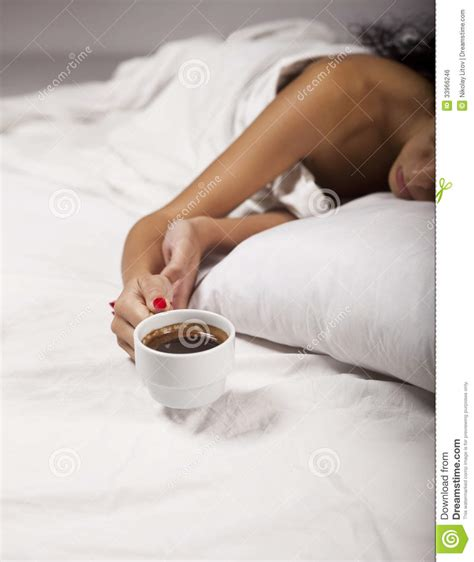 coffee in bed royalty free stock image image 33966246