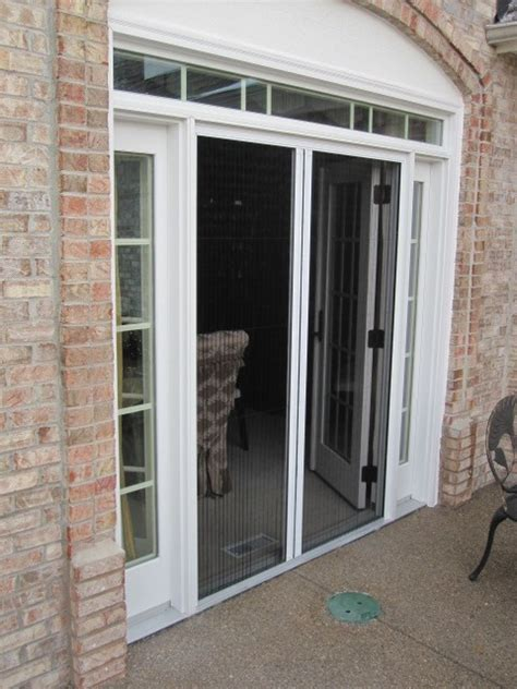 atrium door screen installation retractable screens for