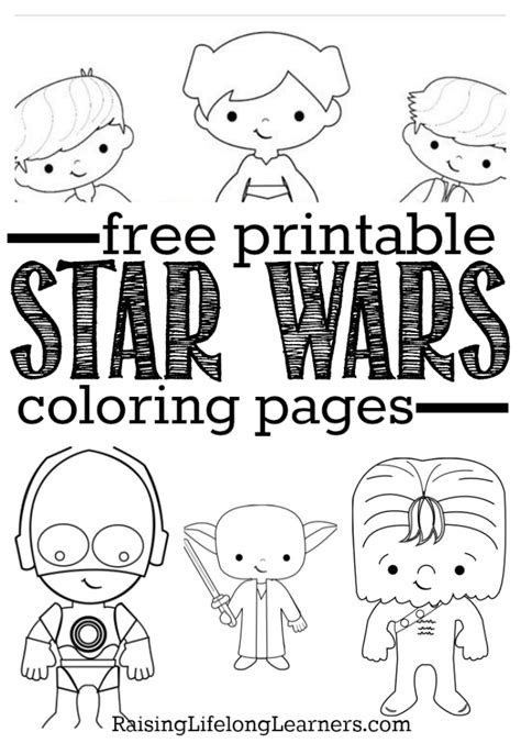 printable star wars coloring pages  star wars fans