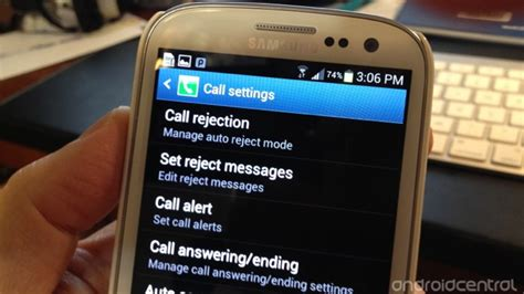how to adjust the call settings on the galaxy s3 android central