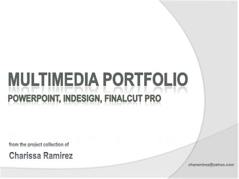 designing in indesign for powerpoint multimedia portfolio powerpoint indesign finalcutpro