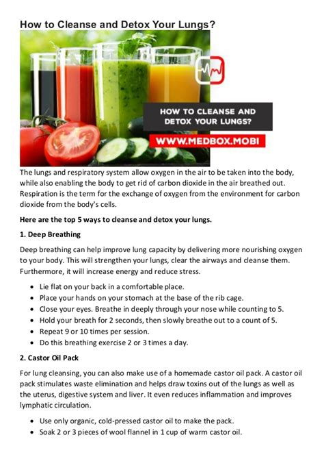 How To Detox The Repitory Trac by How To Cleanse And Detox Your Lungs