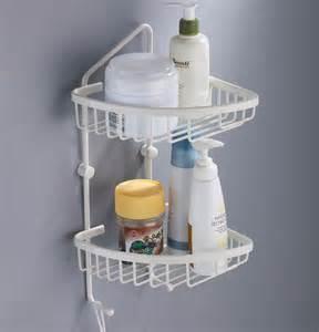 2 tier corner shower caddy white soap basket dl 614 bingo