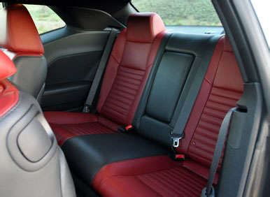 dodge challenger back seat 2013 dodge challenger r t road test and review autobytel