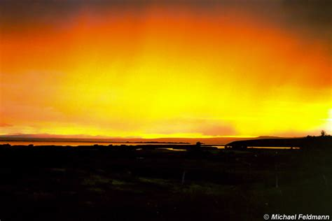Sonnenuntergang Am See M 253 Vatn